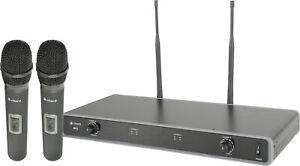 UHF Radio Wireless Dual Handheld Microphone System (863.8MHz + 864.8MHz)