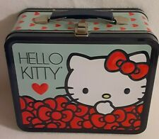 Sanrio Hello Kitty 2011 Metal Lunchbox Red Hearts and Bows
