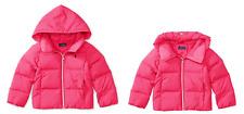 RALPH LAUREN CHILDRENSWEAR Girls Quilted Hooded Jacket, Pink, Size L 12-14.