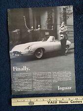 1968 Jaguar XKE Print Ad 10x13, 68 Advertisement Advertising 2+2 Coupe Roadster