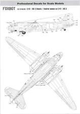 Foxbot Decals 1/72 DOUGLAS C-47 SKYTRAIN STENCILS