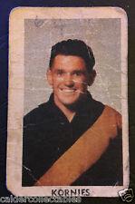 1949 KORNIES VICTORIAN FOOTBALLERS CARD BILL WILSON RICHMOND CARD # 84 VFL