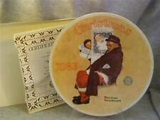 Knowles / Bradford Exchange / Santa In The Subway By Norman Rockwell Plate