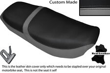 GREY & BLACK CUSTOM FITS HONDA CB 650 SC NIGHTHAWK 82-85 DUAL LEATHER SEAT COVER