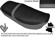GREY & BLACK CUSTOM FITS HONDA CB 650 SC NIGHTHAWK 82-85 DUAL LEATHER SEAT COVER
