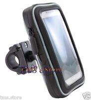 "Bike/Motorcycle Handlebar Mount & Dust/Water Resistant 5.5"" GPS Case Holder"