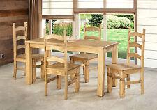 Esszimmer Esstisch Holz Pinie massiv Tisch 170 x 73 Stühle 4 Mexico Brasil Tisch