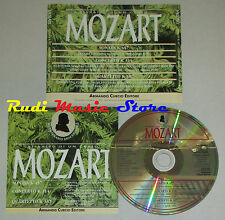CD MOZART sonata k 457 concerto 314 quartetto 387 BACKHAUS GAZZELLONI  lp mc dvd