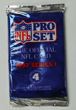 NFL Pro Set Trading Cards 1992 Series1 Sealed - 4 Packs of 15 Cards ea -60 CARDS