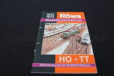 E197 Catalogue vintage Train Ho RÖWA Modelleisenbahnen 1972 1973 Allemand