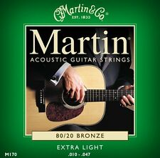 Martin M170 3 PACK Bronze Acoustic Guitar Strings Extra Light 10 - 47  M170PK3