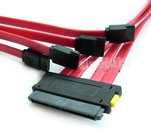 Sintech SCSI SAS SFF-8484 32Pin to 4-ports SATA 7Pin HDD Controller Cable 50cm