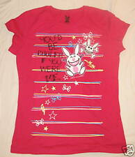 HAPPY BUNNY JUNIORS T-SHIRT COOLER IF ME SMALL 3/5 NWT