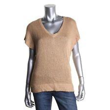 2X Lauren Ralph Lauren Womens Solid Cable Knit V-NeckTop Sweater Plus NEW $109