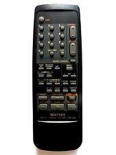 MATSUI TV/VCR COMBI REMOTE CONTROL for TVR151 TVR161 TVR162 TVR162S