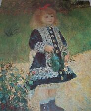 GIRL WITH WATERING CAN Pierre Auguste Renoir Color Print French Artist