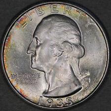 1935 Washington Quarter 25C - Gem Uncirculated - Colorful Toning