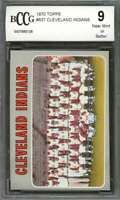 Cleveland Indians Team Card 1970 Topps #637 BGS BCCG 9