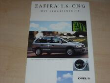 47548) Opel Zafira 1.6 CNG Prospekt 05/2001