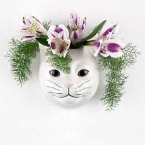 Quail Ceramics.  A  Wall Flower Vase  Cat - Daisy