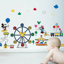 Mickey Minnie Mouse Ferris Wheel Wall Stickers Removable Kids Nursery Decor Art