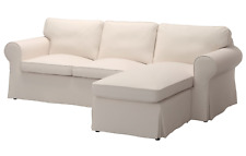 New IKEA EKTORP Cover for sofa, Lofallet with chaise, Lofallet beige