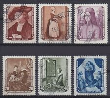 GDR Mi No. 504 - 509, Postmarked, Paintings Gallery Dresden 1955, Frayed