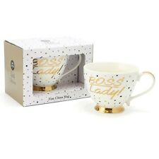 Gold Editions Dots Fine China Large Boss Lady Cup Mug  LP33745  Boxed