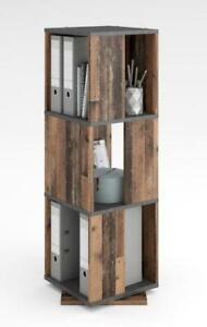 TOWER Regal drehbar 3 Ebenen von FMD Old Style dunkel / Matera