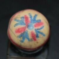 Extremely Rare Fired  Clay Antique Chinas Crockery Marble Size .890 NM!
