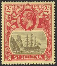 St Helena 1922 KGV 2sh6d Grey and Red on Yellow Mint SG94 cat £29