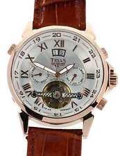 Trias Uomo orologio da polso Agora con 35 pietre Automatik-fabbrica in acciaio inox IP Rotgold
