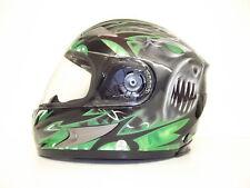 Viper Rs-220 Demon Full Face Motorcycle Motorbike Helmet Sharp 4 Stars Green Yes Extra Iridium Visor L (59-60cm)