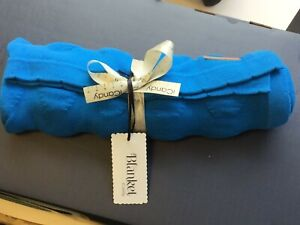 Brand New Icandy Bubble Blanket in Bright Turquoise 100% cotton 90cm x 70cm