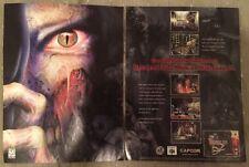 Resident Evil 2 Poster Ad Print Nintendo 64 N64 Retro