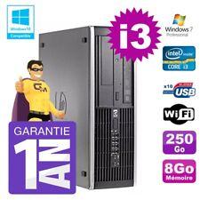 PC HP 8200 SFF Intel I3-2120 8gb Disco 250gb Masterizzatore Wifi W7
