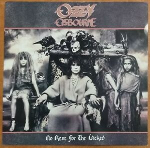Ozzy Osbourne No Rest for the Wicked 1988 DOUBLE-SIDED PROMO POSTER FLAT