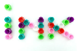 Ink Tattoo Cups Pigment microblading honeycomb pots holder caps plastic 50pcs UK