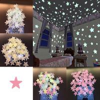 Glow In The Dark Star Wall Stickers 100Pcs Star Luminous Kids Living Room Decor