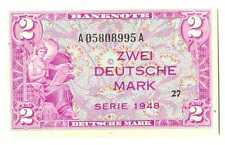 Germany Federal Republic U.S. Army Command 2 Deutsche Mark 1948 UNC #234a