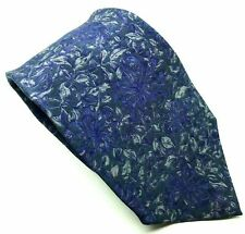 "Paco Rabanne Men's Tie Blue Floral 100% Silk 3.5"" Wide 59"" Long"