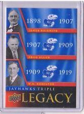 2013 Upper Deck Kansas Jayhawk Legacy Trios #JLT1 Allen / Naismith / Hamilton SP