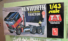AMT TNT 1/43 Scale Kenworth K-123 Cabover Tractor Kit T702 Unbuilt in Box