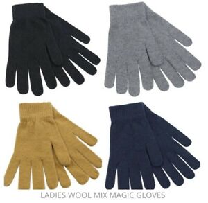 Women's Multicoloured Stretch Fit Thermal One Size Fits All Magic Gloves ❤️ Gift