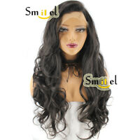 Synthetic Lace Front Wig Long Curly Wigs Side Part For Women Party Black Hair