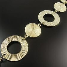 1M Matte Gold Tone Round Circle Link Neckalce Alloy Handmade Sweater Chain