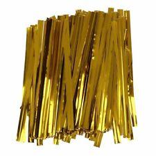 100 Attaches lien doré métal fermeture manuelle sachet bonbon confiserie twist