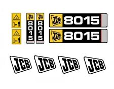 Sticker complete - MINI DIGGER JCB 8014, 8015, 8016, 8017, 8018, 8020 in 24h