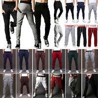 Mens Casual Sport Jogger Pants Harem Bottoms Jogging Sweatpants Trousers Shorts