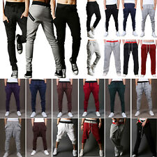 Mens Slim Fit Tracksuit Bottoms Sports Jogging Running Sweat Pants Gym Trousers